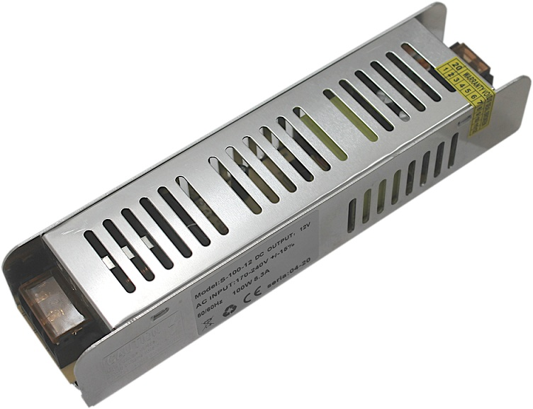 TRANSFORMATOR ZASILACZ LED 12V DC 8,33A 100W IP20